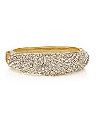 Mood Gold pave crystal bangle