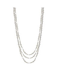 Mood Triple row pearl and bead necklace
