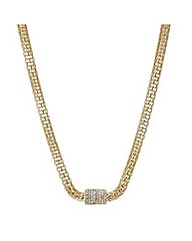 Mood Gold mesh crystal magnetic necklace