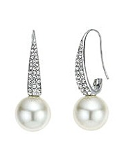 Mood Crystal pave pearl drop earring