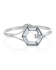 Mood Silver crystal hexagon bracelet