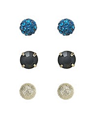 Mood Teal crystal stud earring set