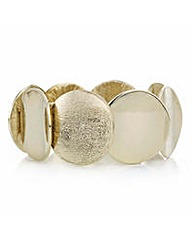 Mood Gold textured disc bracelet