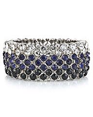 Mood Tonal blue crystal stretch bracelet
