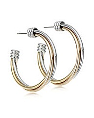 Mood Multi tone twisted hoop earring