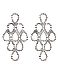 Mood crystal loop chandelier earring