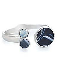 Mood Blue circle stone bracelet
