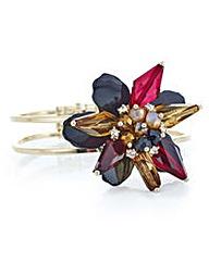 Mood Jet 3d flower crystal bracelet