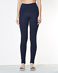 High Waisted Plain Leggings - Long
