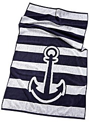 Anchor Jacquard Hand Towel