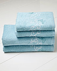 Papillon Bath Sheet Pair