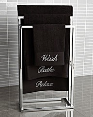 Diamante Bath Towel Pair