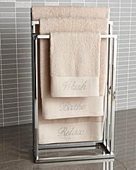 Diamante Bath Sheet Pair