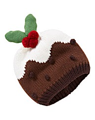 Flashing Xmas Pudding Hat