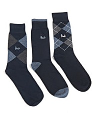 Pack of Three Argyle Socks