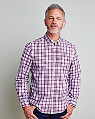 WILLIAMS & BROWN Long-Sleeve Check Shirt