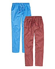 Southbay Pack of 2 Woven PJ Bottoms