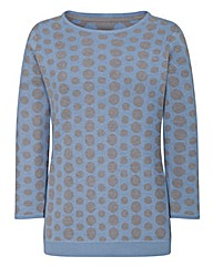 Spot 3/4 Sleeved Jumper