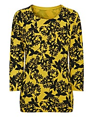 Print 3/4 Sleeved Jumper