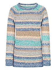 Stripe Ribbon Yarn Jumper