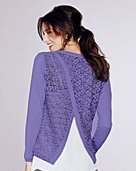 Split Lace Back Jumper