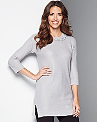 Embellished Neck Tunic