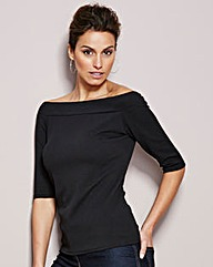 Plain Bardot Jumper
