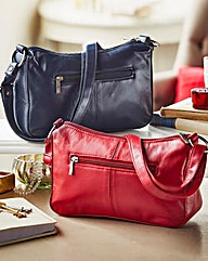 Set Of Two Soft Leather Handbags