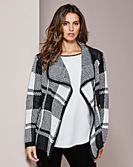 Check Trim Cardigan