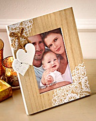 Photo Frame With Hearts Decoration