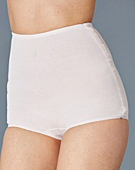 White Five Pack Cotton Comfort Shorts