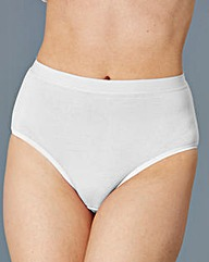 White Ten Pack Cotton Rich Midi Briefs