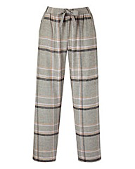 Woven Checked Pyjama Bottoms Long
