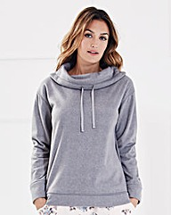 Pretty Secrets Slouch Neck Fleece Top