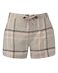 Woven Checked Pyjama Shorts
