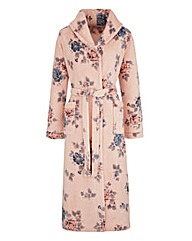 Floral Print Fleece Gown 42in