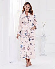 Floral Print Fleece Gown L42