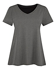 Pretty Secrets Flared Jersey T-shirt Top