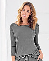 Jersey 3/4 Sleeve T-Shirt Pyjama Top