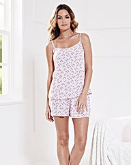 Pretty Secrets Woven Shortie Pyjama Set