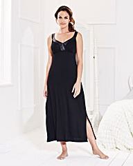 Pretty Secrets Black Maxi Chemise 48in