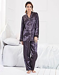 Simply Yours Printed Satin Pyjama Set