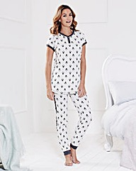 Short Sleeved Penguin Print Pyjama Set
