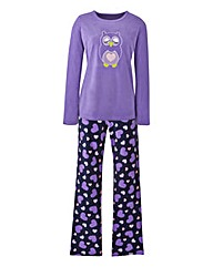 Owl Microfleece Pyjama Set