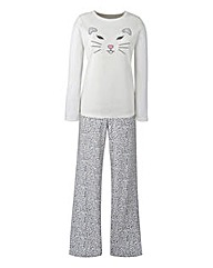Cat Microfleece Pyjama Set