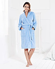Fluffy Fleece Wrap Gown L38