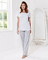 Short Sleeved Pyjama Set Long Fit