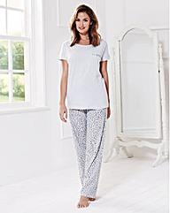 Short Sleeved Pyjama Set Long Fit
