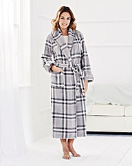 Floral Print Fleece Gown