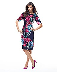 JOANNA HOPE Print Scuba Jersey Dress